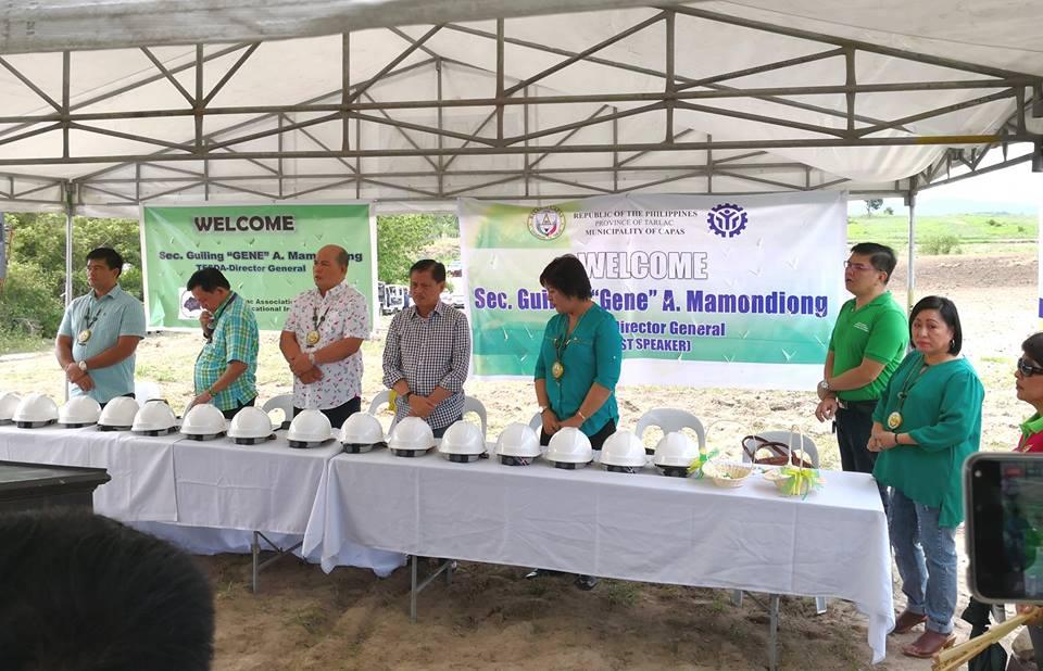 Ground Breaking Ceremony TESDA Skills Training Court for IPs at Cristorey Capas, Tarlac