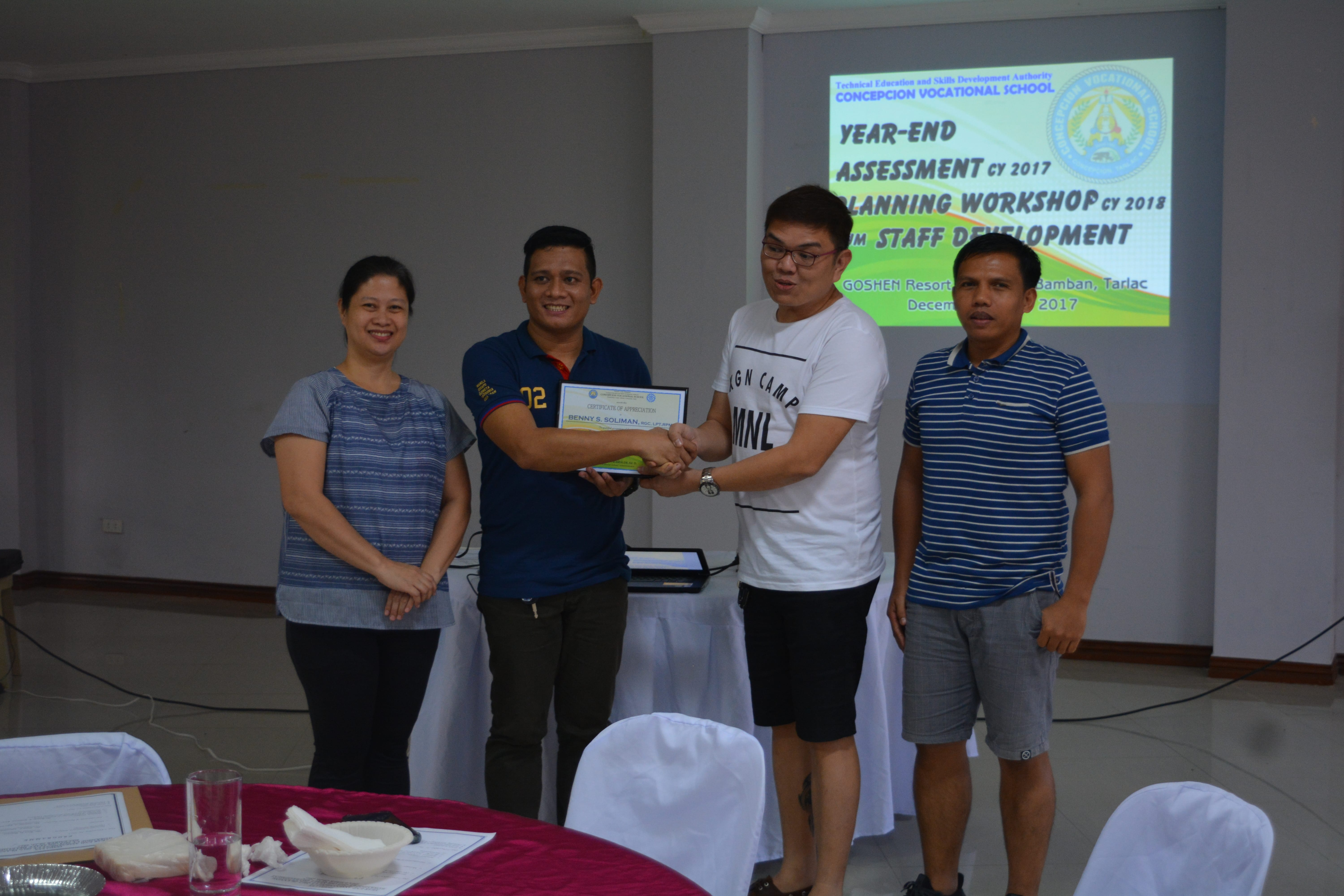 Year End Assessment 2017 and Planning Workshop 2018
