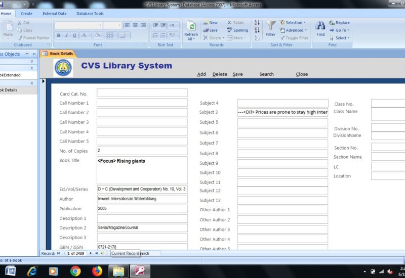 Finding books made easy through innovated CVS' Library System