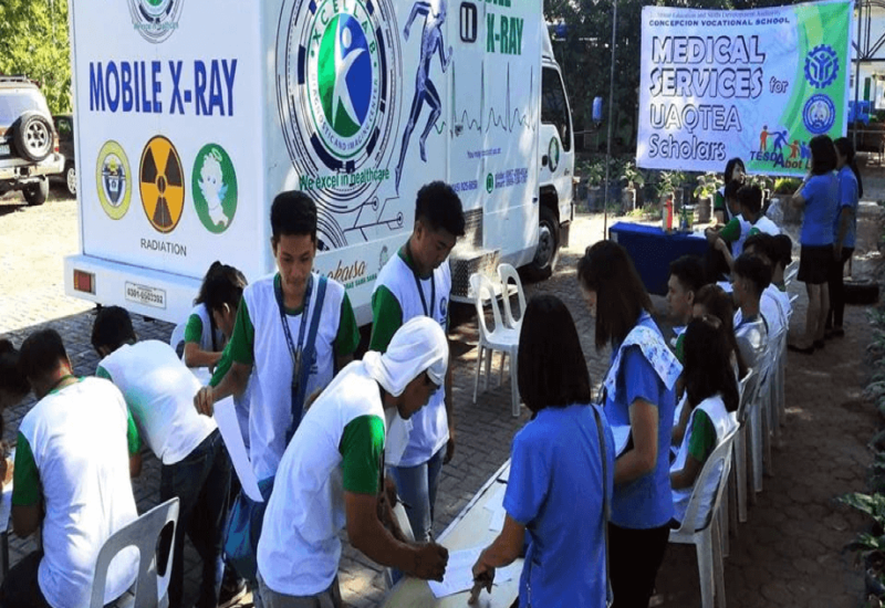 TESDA-CVS conducts Mobile Medical exam to UQATEA Scholars