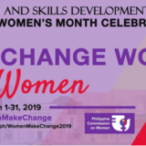 "2019 National Women's Month Celebration""We Make Change Work for Women"""