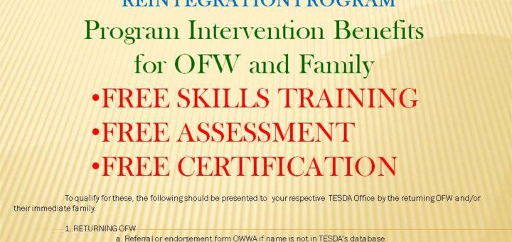 OFW Reintegration Program