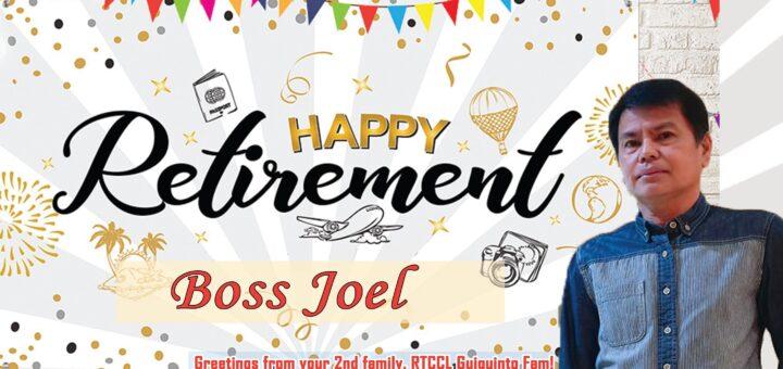 Happy Retirement to our good leader Boss Joel de Jesus