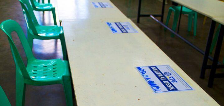 RTCCL Guiguinto - provides its Neutral Table/Desks